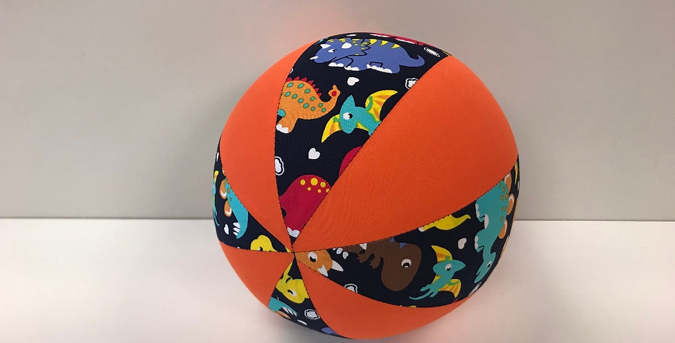 Balloon Ball Medium - Baby Dinosaurs with Orange Panels