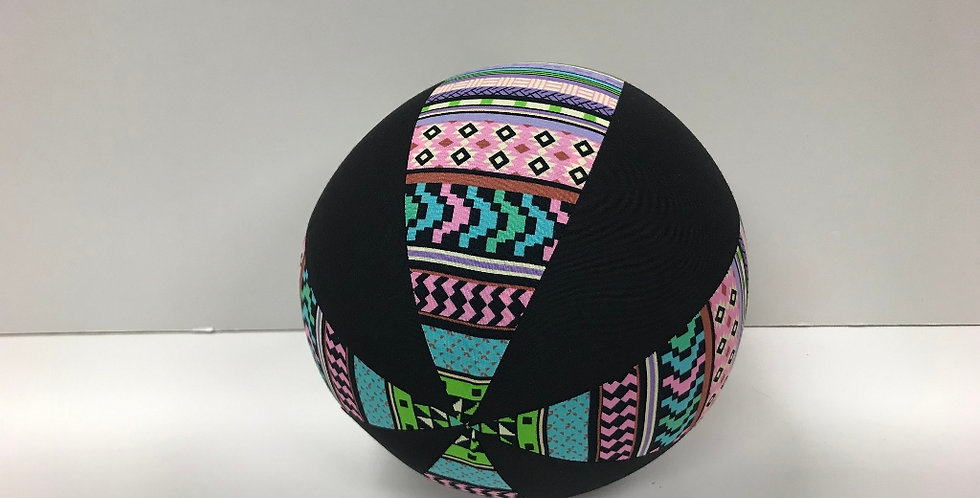 Balloon Ball Medium - Green Aztec with Black Panels