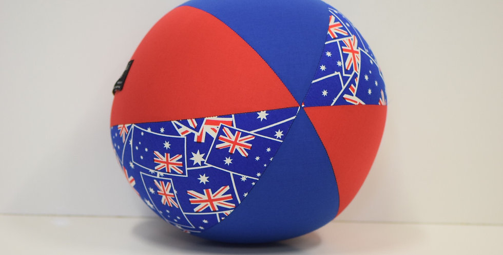 Balloon Ball Large - Australia Flag with Blue Red Panels