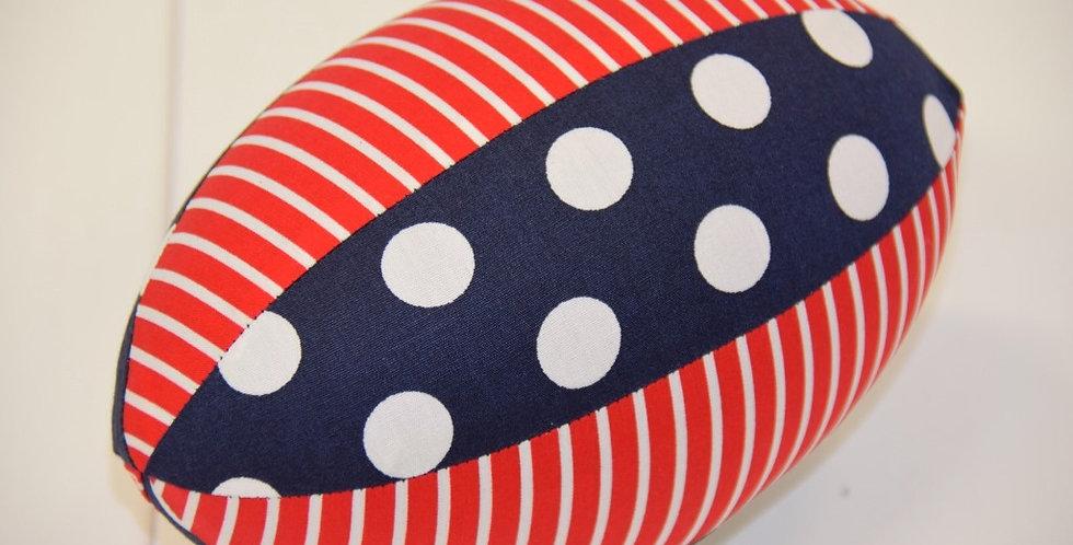Red White Stripes Navy White Dots