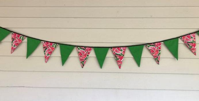 Bunting - Apple Green - Watermelon Print