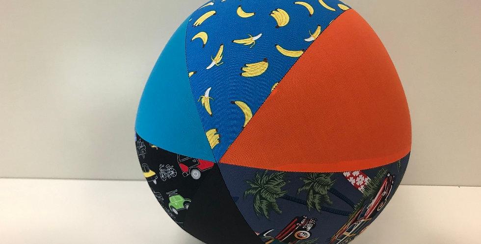 Balloon Ball Large -Surf Cars Bananas Cars with Black Orange Aqua Panels