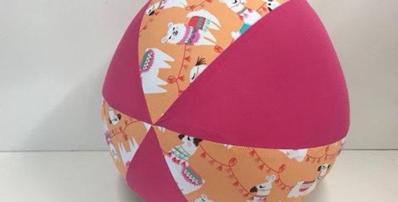 Balloon Ball - Apricot Llamas with Pink Panels