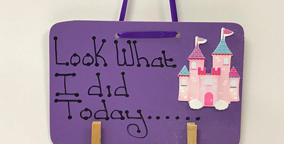 Castle - Purple Board - Glitter - Purple Ribbon