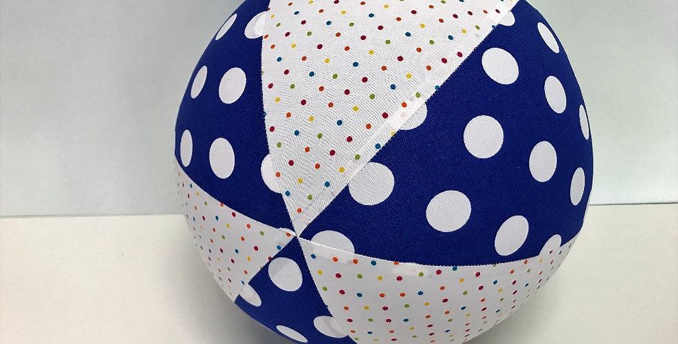 Balloon Ball - White Coloured Dots Blue White Dots