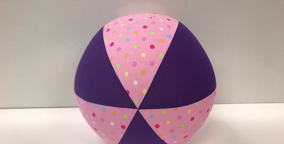 Balloon Ball Large -  Pink Pastel Dots Purple Panels