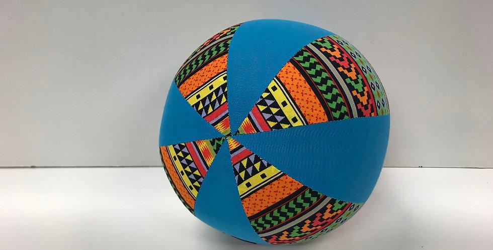 Balloon Ball Medium - Bright Aztec with Aqua Panels