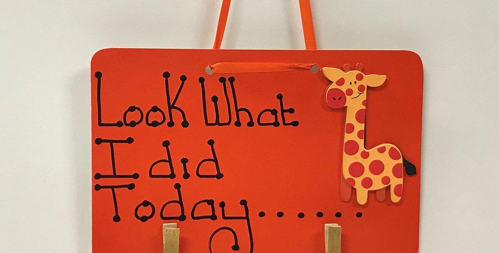 Giraffe - Orange Board - Orange Ribbon