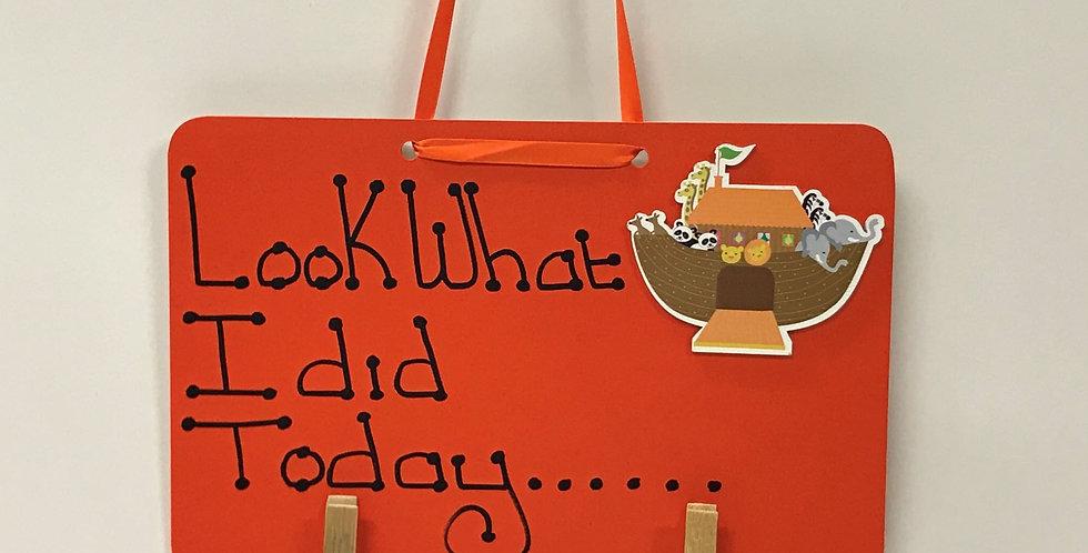 Noah's Ark - Orange Board - Orange Ribbon