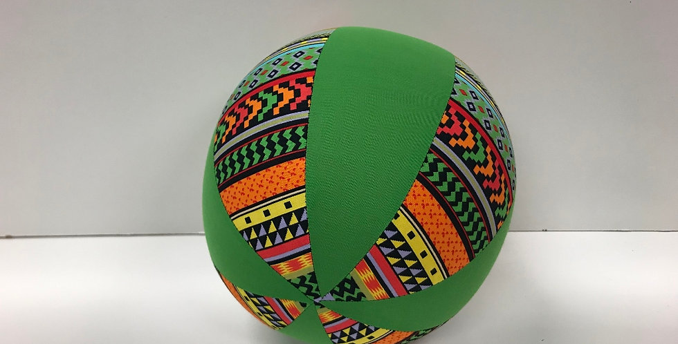 Balloon Ball Medium - Bright Aztec with Apple Green Panels