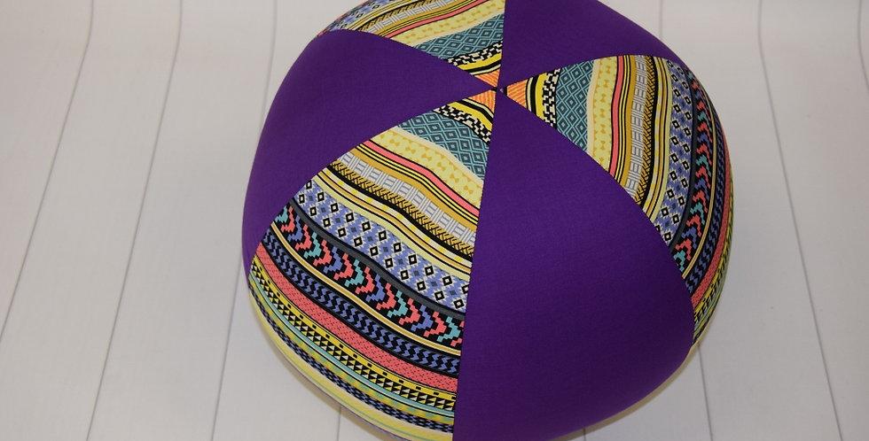 Beach Ball - Aztec with Purple Panels