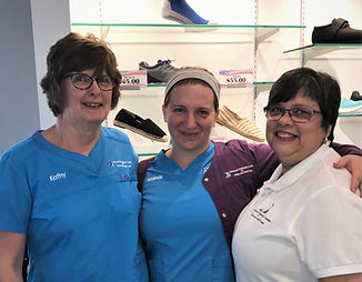 Kathy, Amanda, Carol Ruth Advanced regional ceter for ankle and foot care. Staff. Podiarty. Foot Doctor