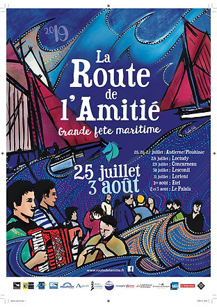 2019 ROUTE AMITIE affiche route 19 A3 av