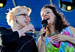 Nancy and Lauren Kinhan,Syracuse jazzfest 2016