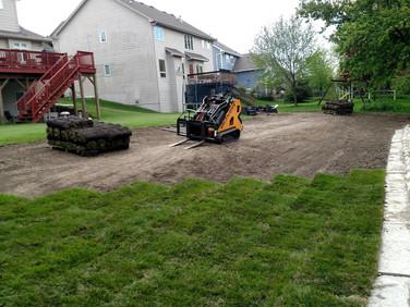 Backyard Retaining Wall