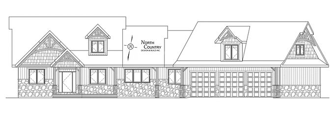 House Plan, Architectural Drawing, North Country Design & Build