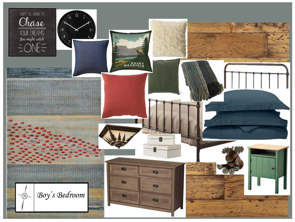 Boy's Bedroom, North Country Design
