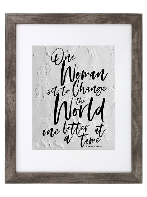 One Woman Framed Quote