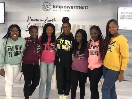 A group of beautiful anointed young woman