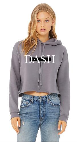 Grey Cropped DASH Hoodie