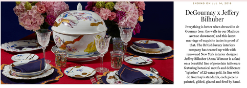 Degournay Tableware Photography