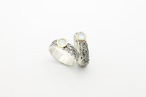 Moonstone Bezel Rings