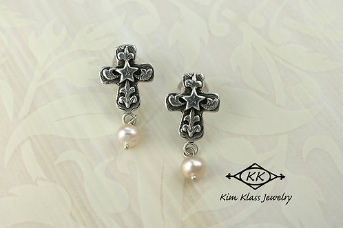 Angelstar Cross earring