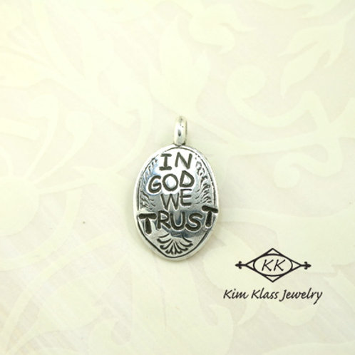 In God We Trust Pendant (lg)
