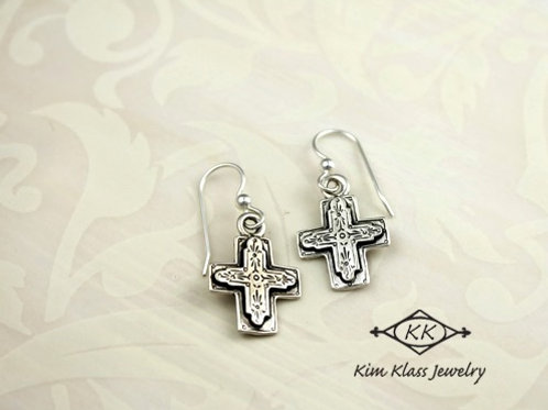 Gratitude Cross Earrings