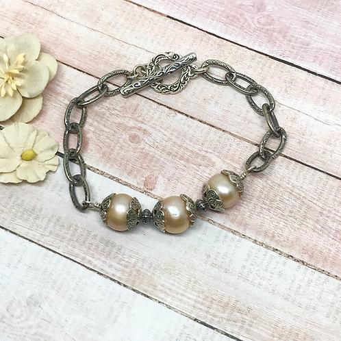 Desert Sunset Pearl Bracelet