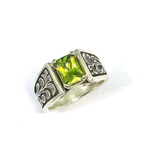 Arizona Peridot Cathedral Ring