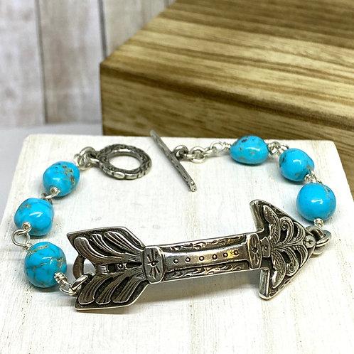 Fearless Arrow Turquoise Bracelet