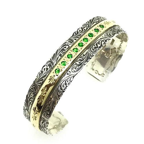 Cowgirl Tennis Bracelet--Green Tsavorite Garnet