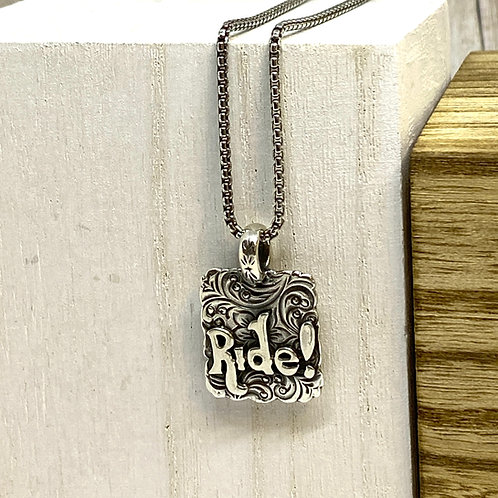Ride/Courage Necklace