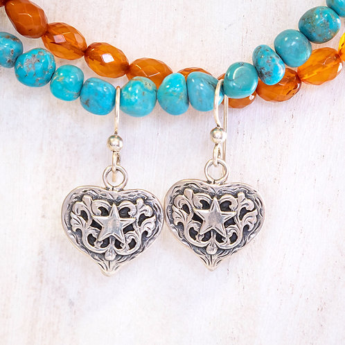 Debby Heart Earrings/French Wires