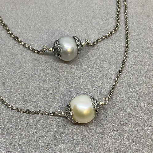 Desert Single Pearl Necklace