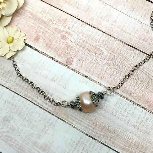 Desert Sunset Single Pearl Necklace