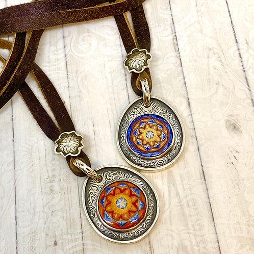 Sonoran Sunrise Leather Necklace