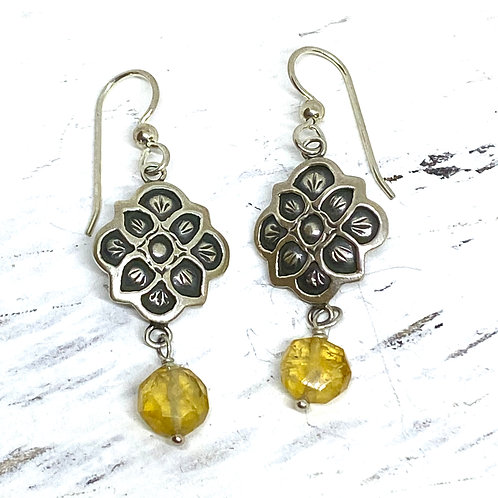 Mystic Rose Citrine Earrings