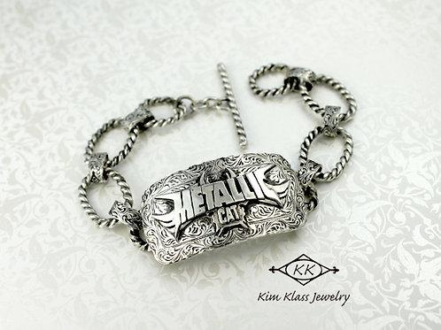 Metallic Cat Custom Bracelet