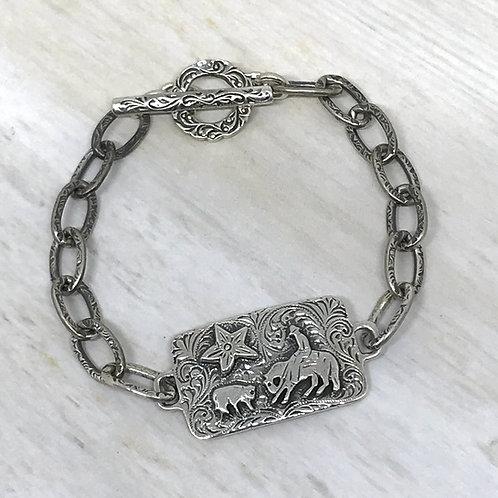 """Faith Happens"" Cutting Horse Bracelet"