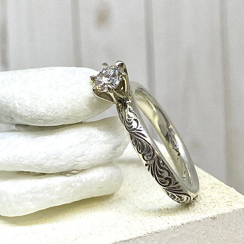 Solitaire in Silver
