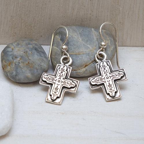 Gratitude Cross Earrings