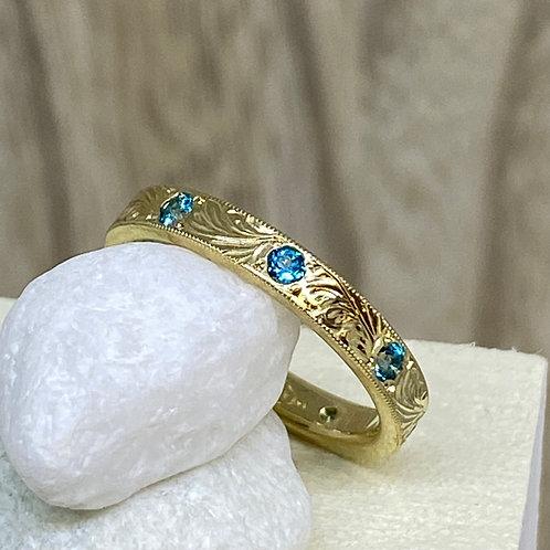 Golden Paraiba Stacker Ring