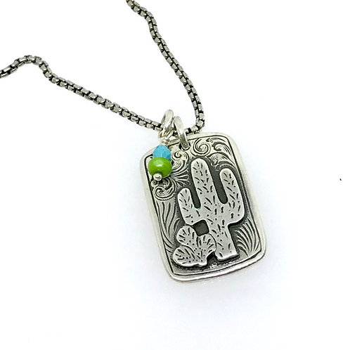 Cactus Stay Sharp Necklace