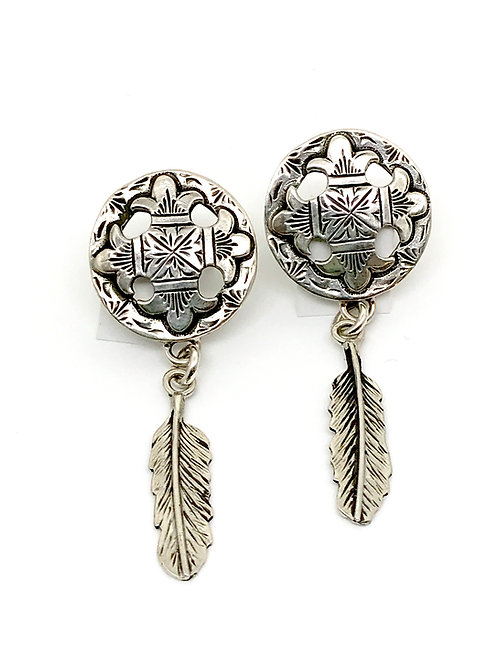 Compass Feather Earrings