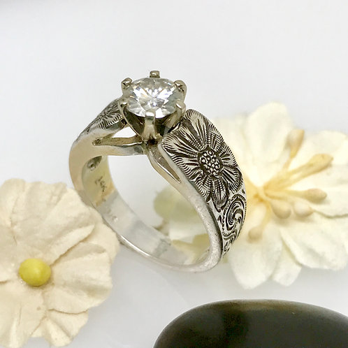 Cathedral Engraved Ring