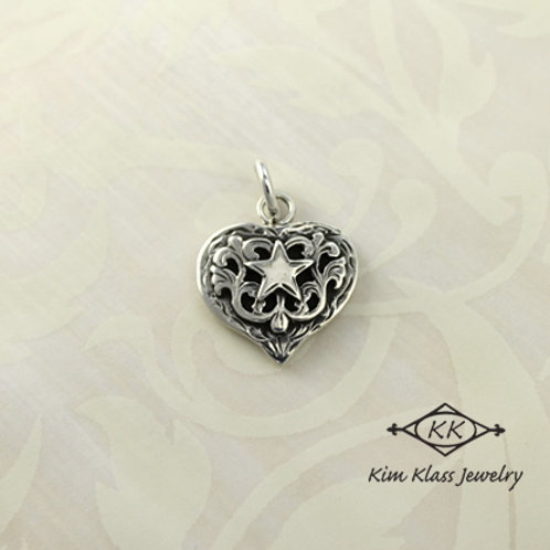Small Debby Heart Pendant