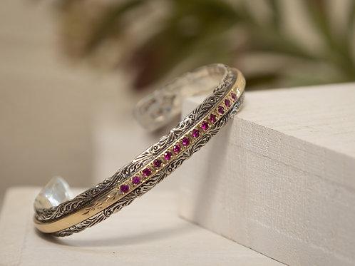 Tiny Ruby Cowgirl Tennis Bracelet