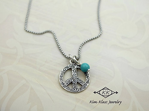 Peace Happy Life necklace